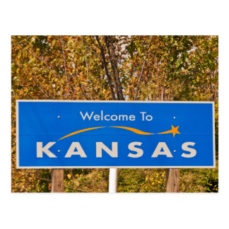 Welcome to Kansas Sign - State Signs Postcard