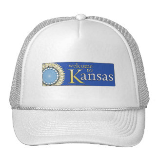 Welcome to Kansas - USA Road Sign Hat