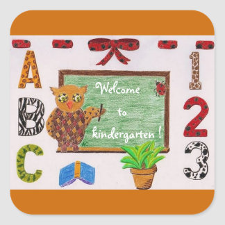 Welcome to kindergarten stickers