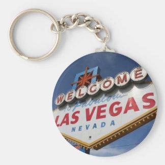 Welcome To Las Vegas Basic Round Button Key Ring