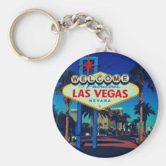 Welcome to Las Vegas! Basic Round Button Key Ring
