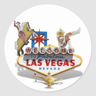 Welcome to Las Vegas Classic Round Sticker