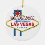 Welcome-to-Las-Vegas Retro Round Ceramic Decoration