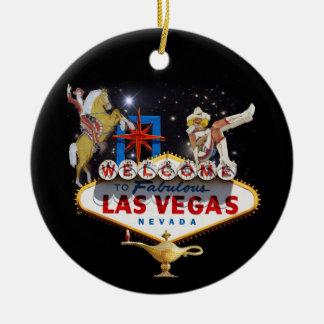 Welcome to Las Vegas Round Ceramic Decoration