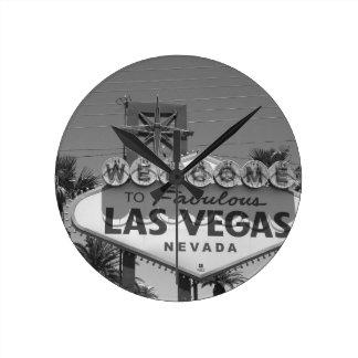 Welcome to Las Vegas Round Clock
