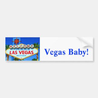 Welcome to Las Vegas Sign Car Bumper Sticker