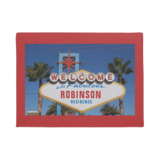 Welcome to Las Vegas sign with your name Doormat