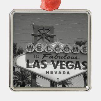 Welcome to Las Vegas Silver-Colored Square Decoration