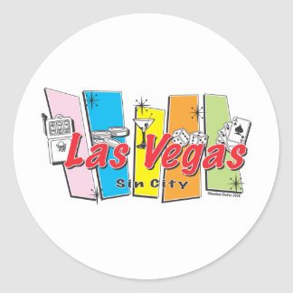 Welcome to Las-Vegas Sin City Classic Round Sticker