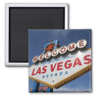 Welcome To Las Vegas Square Magnet
