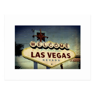 Welcome To Las Vegas Vintage Post Card
