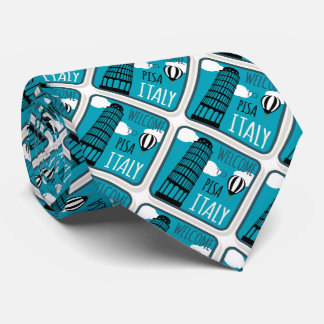 Welcome to Leaning Tower Pisa Italy Tie