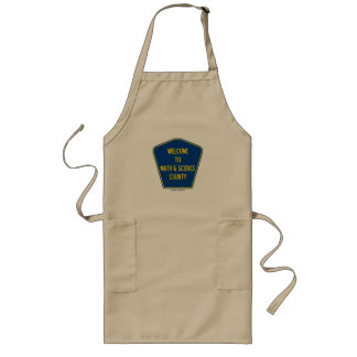 Welcome To Math & Science County (County Sign) Aprons