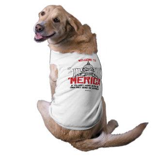 Welcome to Merica Sleeveless Dog Shirt