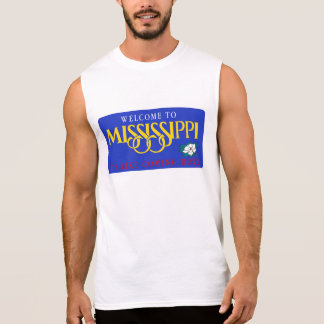Welcome to Mississippi - USA Road Sign Sleeveless Shirts