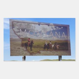Welcome to Montana Rectangular Sticker