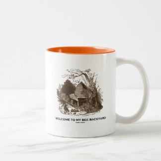 Welcome To My Bee Backyard (Beehive In Garden) Two-Tone Coffee Mug
