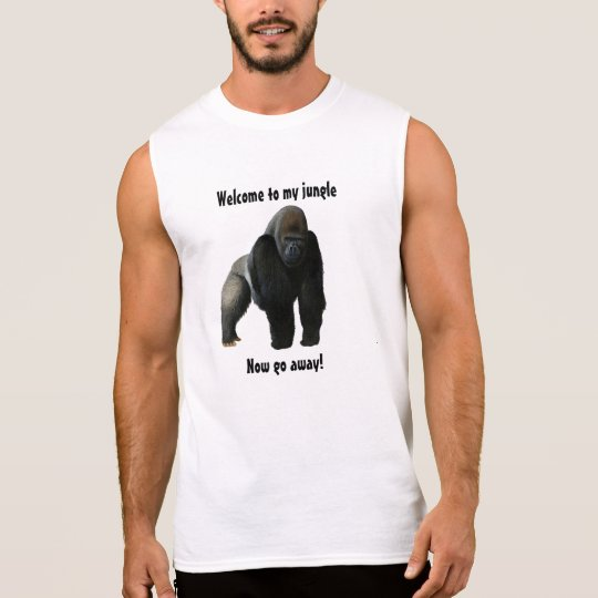 Welcome to my jungle mens sleeveless T-shirt