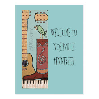 Welcome to Nashville Postcard 2