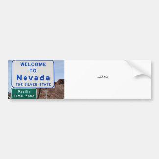 Welcome to Nevada Bumper Sticker