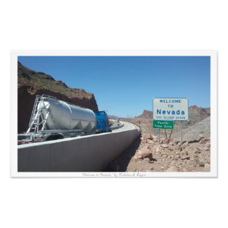 """Welcome to Nevada,"" Nevada State Sign Art Photo"