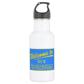Welcome to New Hampshire - USA Road Sign 532 Ml Water Bottle