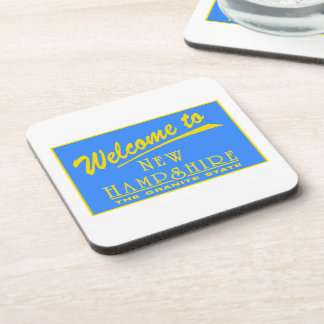 Welcome to New Hampshire - USA Road Sign Beverage Coaster