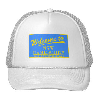 Welcome to New Hampshire - USA Road Sign Mesh Hats