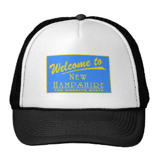 Welcome to New Hampshire - USA Road Sign Trucker Hats