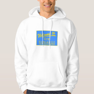 Welcome to New Hampshire - USA Road Sign Hooded Sweatshirts
