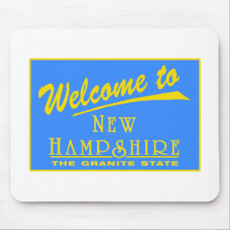 Welcome to New Hampshire - USA Road Sign Mouse Pad
