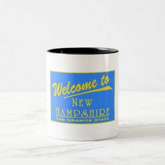 Welcome to New Hampshire - USA Road Sign Coffee Mug
