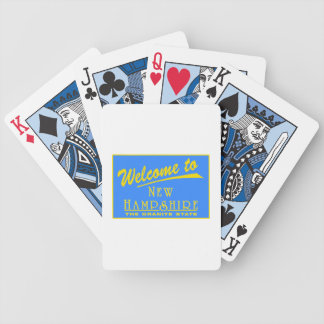 Welcome to New Hampshire - USA Road Sign Bicycle Card Deck