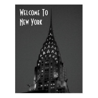 Welcome To New York Postcard