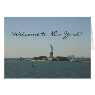 Welcome to New York!-Statue of Liberty Greeting Card