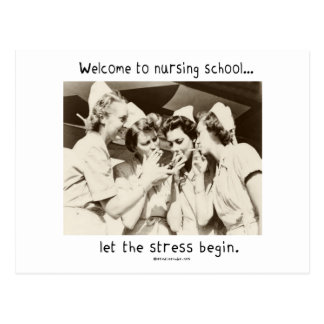 Welcome to Nursing School - Let the Stress Begin Postcard