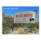 Welcome To Oatman Vintage Sign Postcard! Postcard