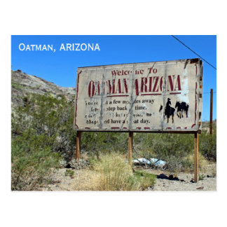 Welcome To Oatman Vintage Sign Postcard! Postcard
