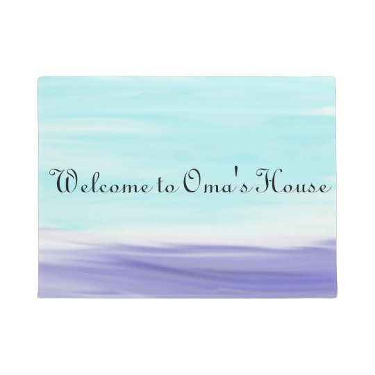 Welcome to Oma's House Watercolor Doormat