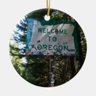 Welcome to Oregon State Sign Ornament