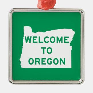 Welcome to Oregon - USA Road Sign Christmas Ornament