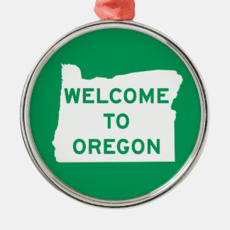 Welcome to Oregon - USA Road Sign Christmas Ornament
