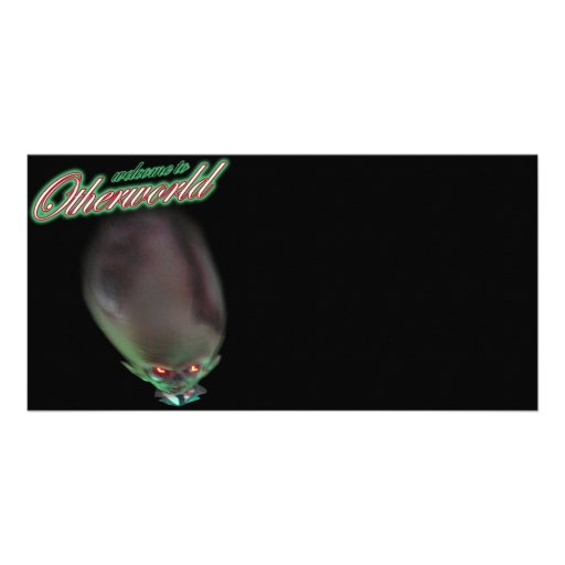 welcome to Otherworld funny zombie alien monster Photo Card Template