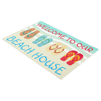 Welcome To Our Beach House Door Mat
