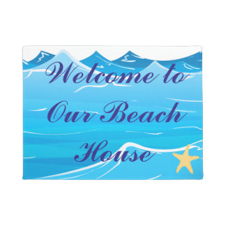 Welcome to Our Beach House Doormat