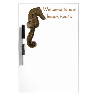 Welcome to Our Beach House SeaHorse Dry Erase Board