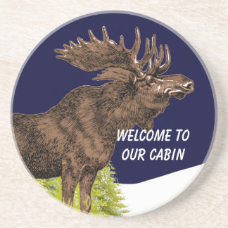 Welcome to our Cabin Moose Coasters