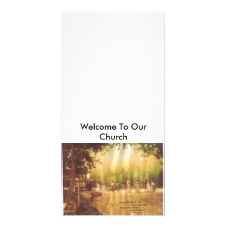 Welcome To Our Church Card Personalized Photo Card