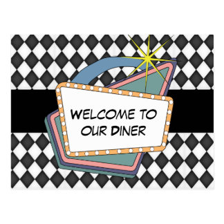 Welcome to our Diner Table postcard