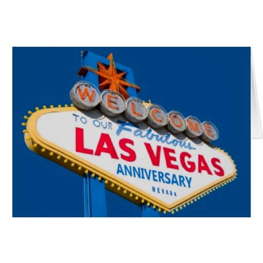 Welcome To Our Fabulous Las Vegas Anniversary Card